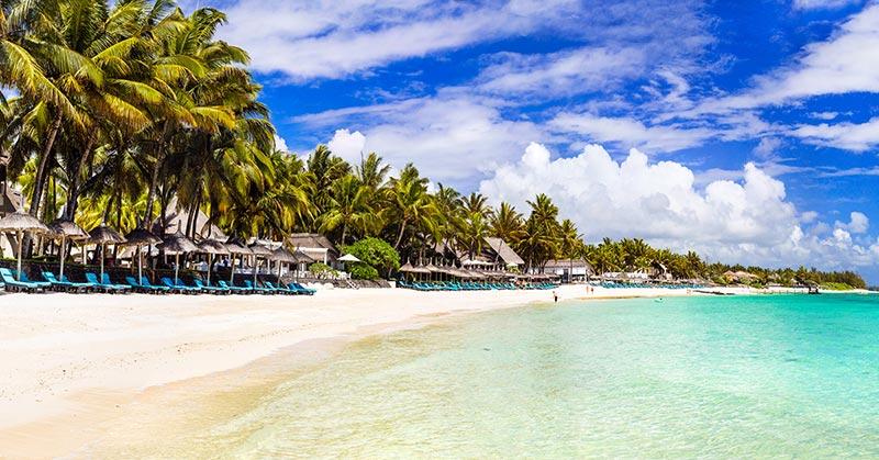 Stränder på Mauritius